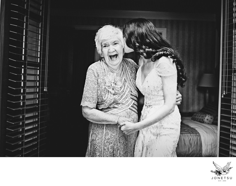 Pender Island bride with grandmother pre wedding