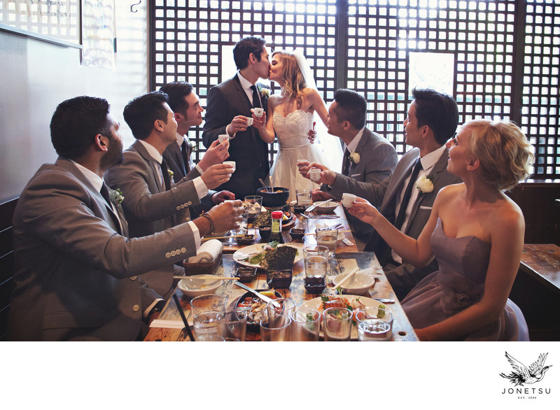 Wedding party sushi lunch and photo shoot Vancouver Guu
