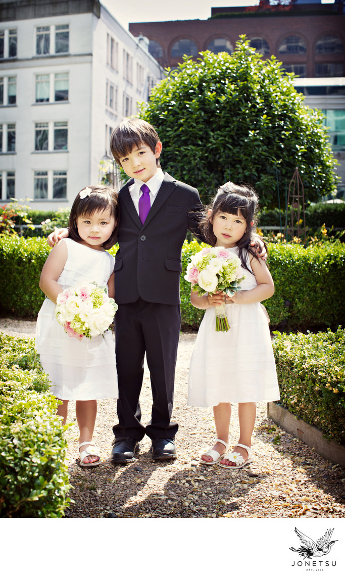 Vancouver flower girls and ring bearer portrait