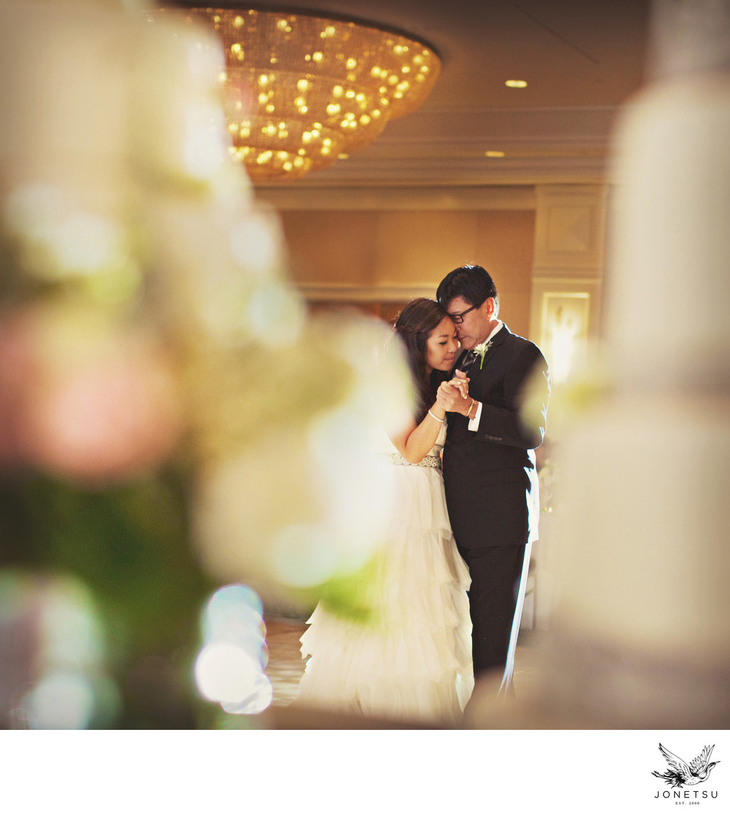 Father daughter wedding dance at Fairmont Waterfront