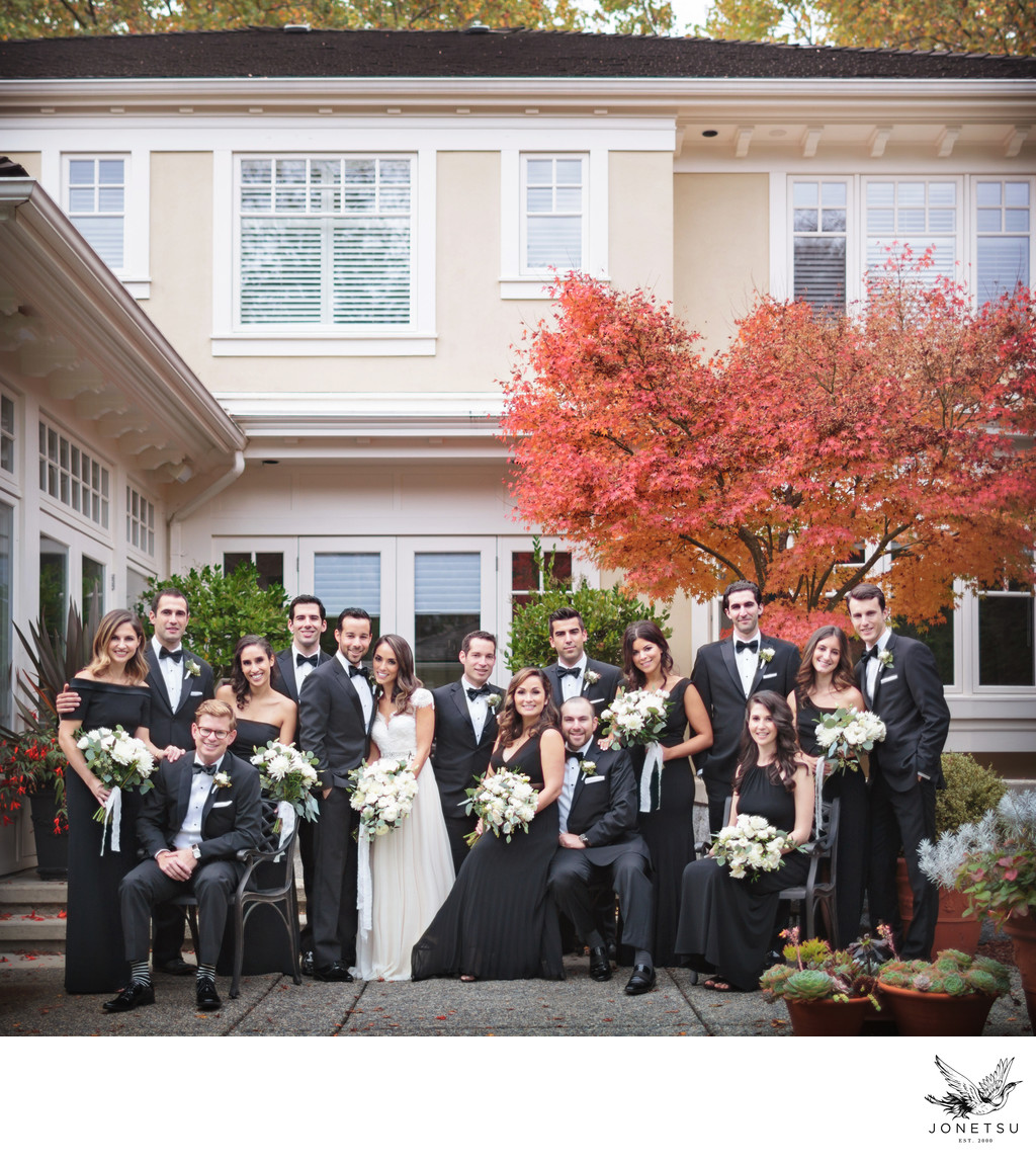 Wedding Party portrait in Fall