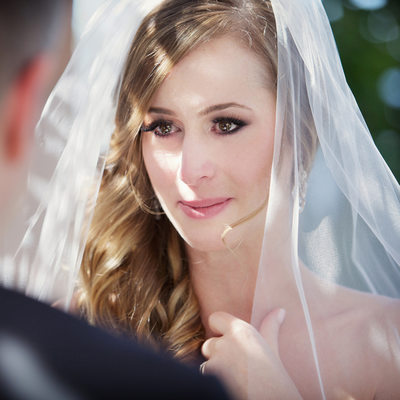 Vancouver wedding ceremony emotional bride portrait