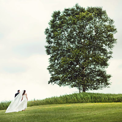 Thunder Bay wedding portrait countryside tree