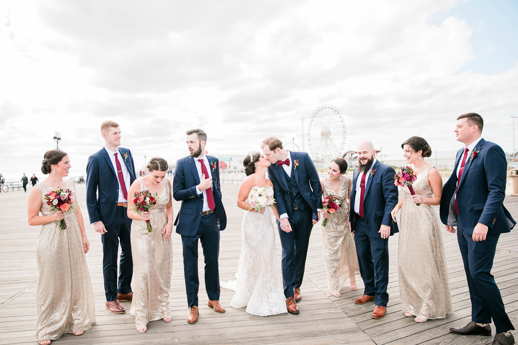 wave resort long branch wedding photographer