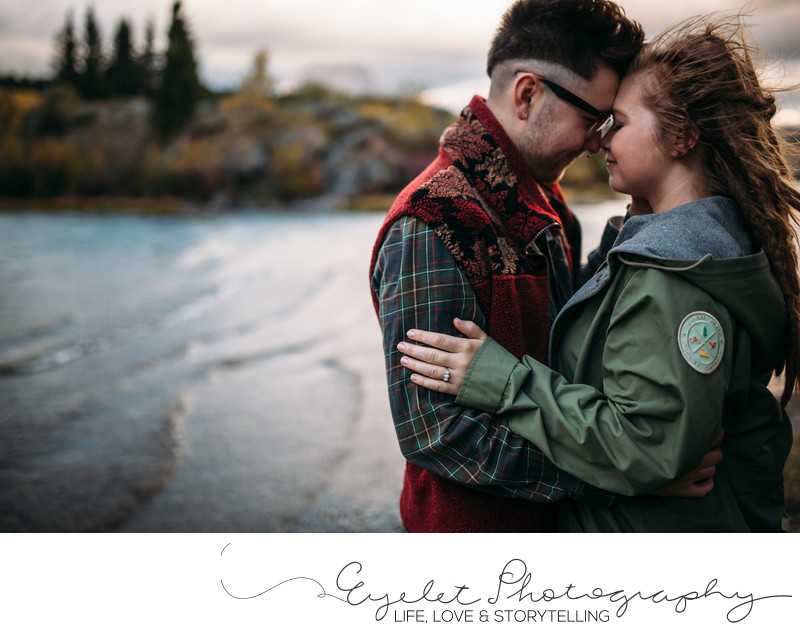 Engagement Photography Crowsnest Pass Lakes