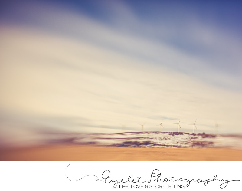 Lensbaby Abstract Landscape Windmill Storm