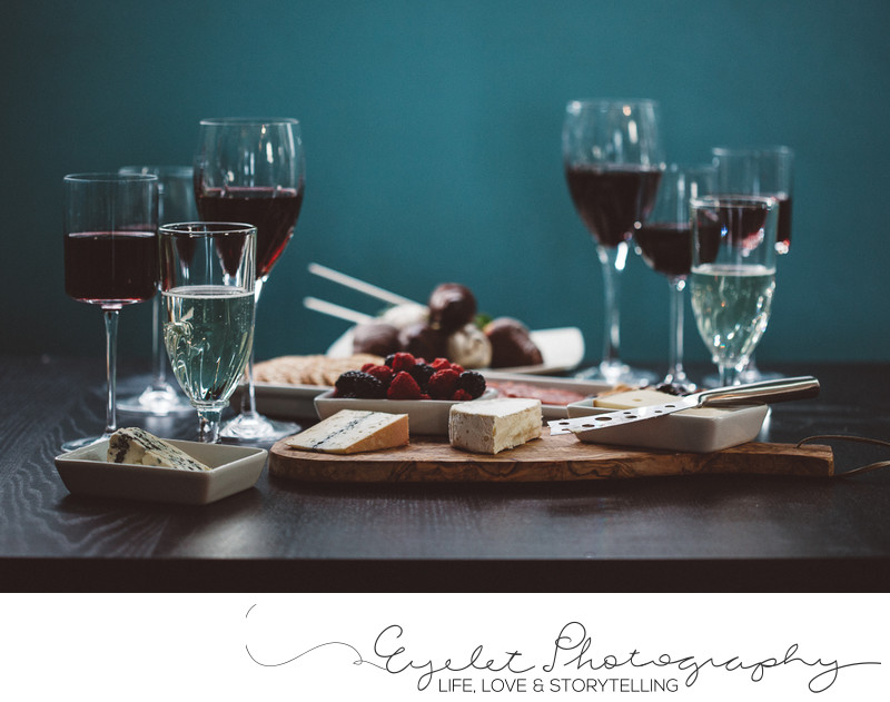 Wine and Cheese Spread Food Photography Le Grand Formage