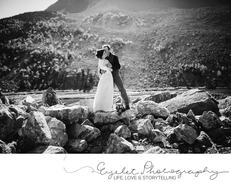 Frank Slide Wedding Photography Crowsnest Pass