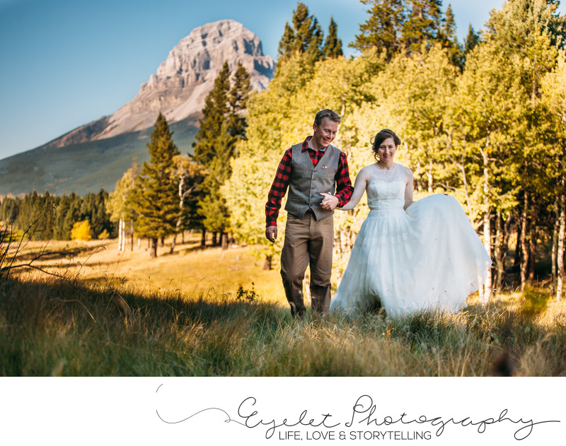 Crownest Pass Top Wedding Photography in Fall