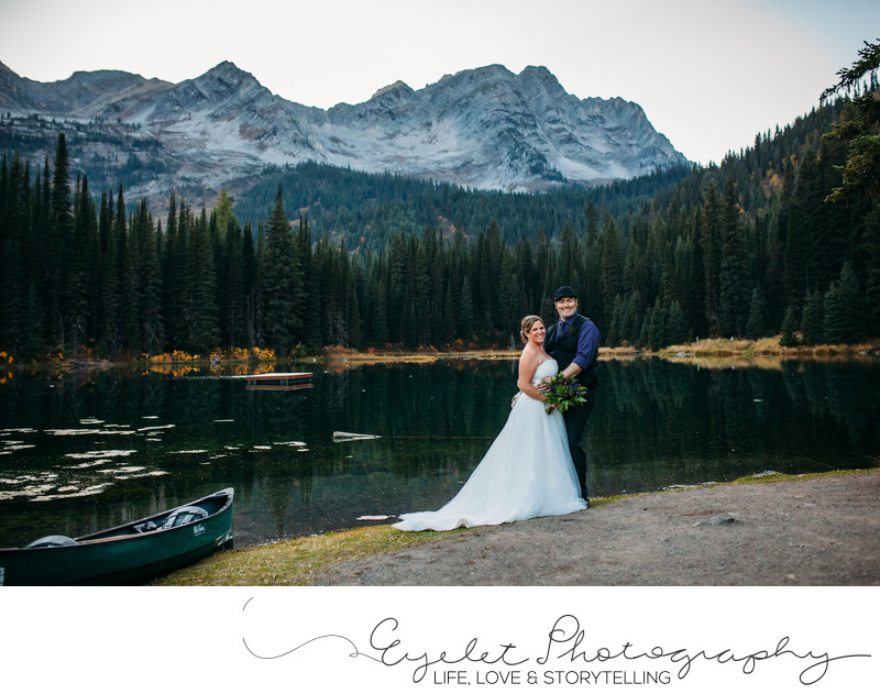Fernie Island Lake Lodge Wedding Photographer Mountains