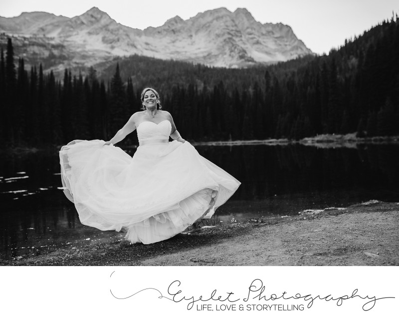 Bridal Portrait Island Lake Lodge Fernie Wedding Photos