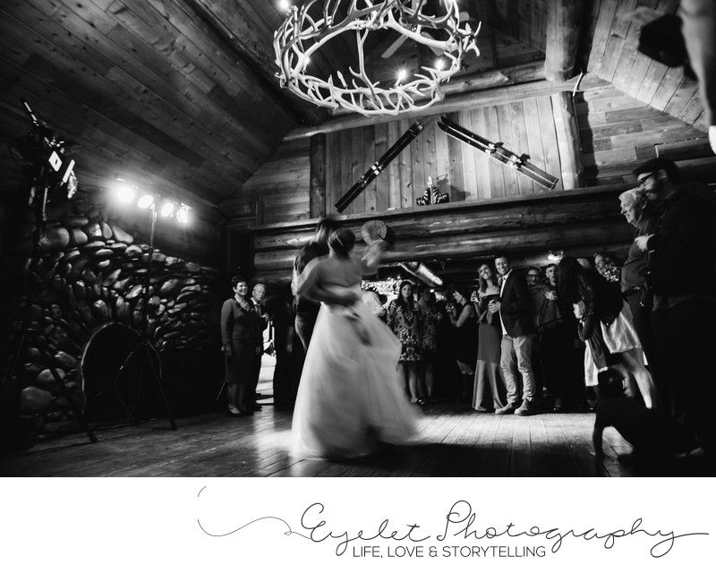 Island Lake Lodge Wedding Photography First Dance