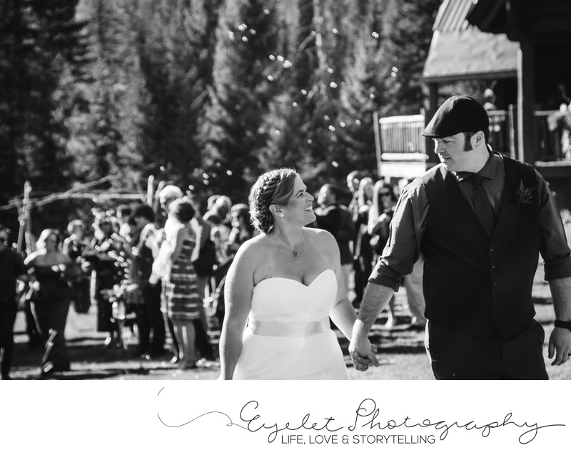 Island Lake Lodge Fernie Front Lawn Wedding Ceremony