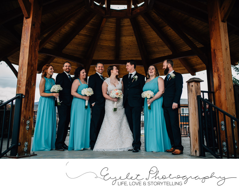 Bridal Party Wedding Photographer Fernie Rotary Park