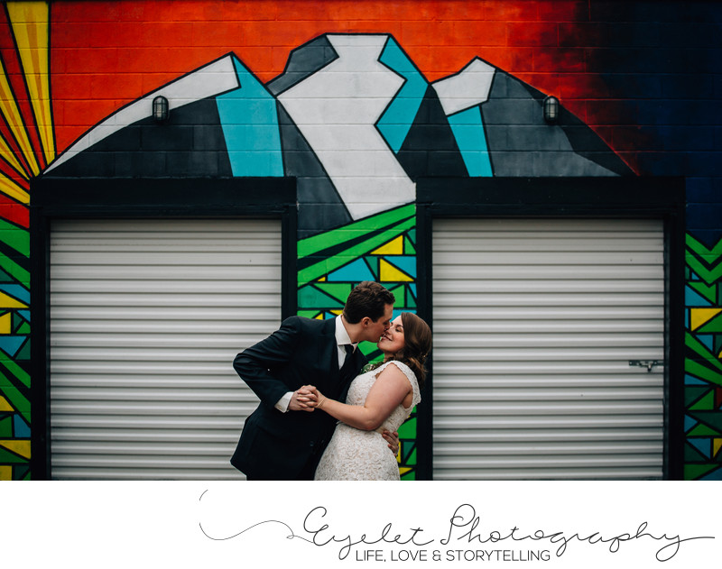 Fernie Photographer Wedding Three Sisters Mural