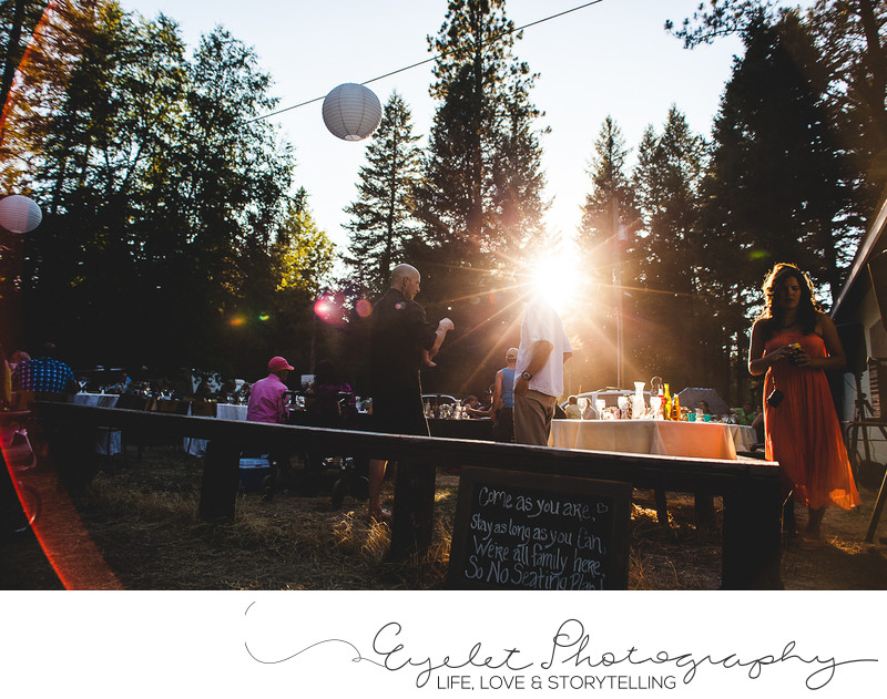 Outside Wedding Reception Photos Baynes Lake, BC