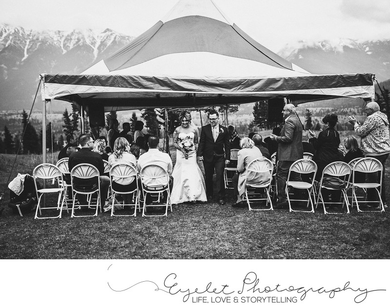 Outdoor Mountain Wedding Ceremony Photos Sparwood, BC
