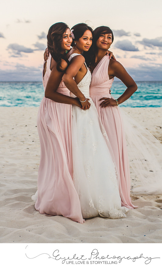 Destination Wedding Photographer Bride and Bridesmaids