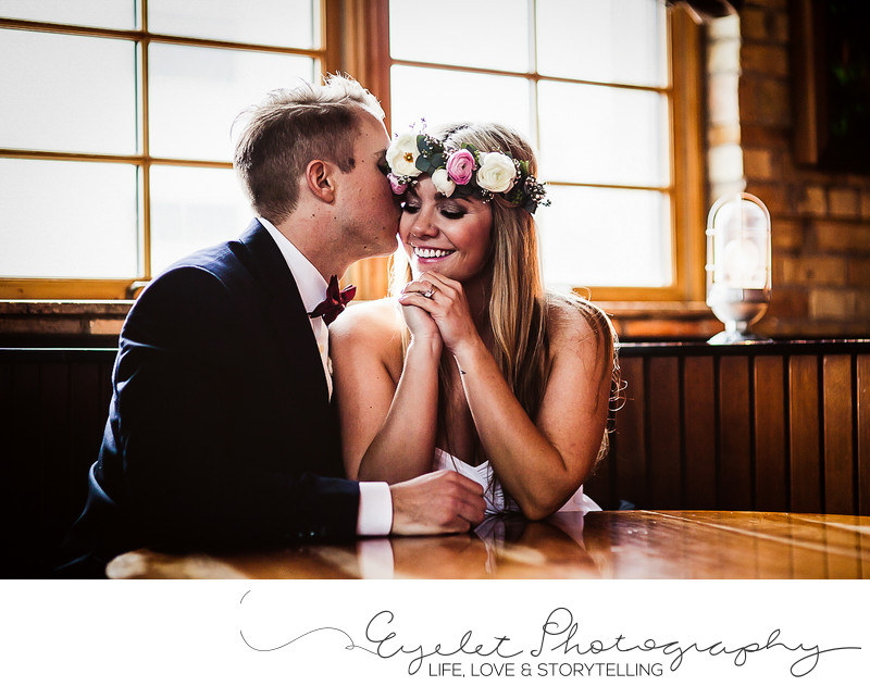Bride and Groom Photos at The Brickhouse Fernie, BC