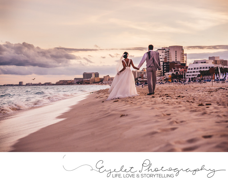 Destination Wedding Photographer Cancun on the Beach