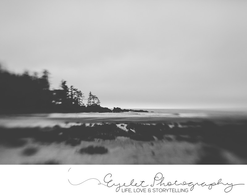 Lensbaby Abstract Landscape Photography Black and White