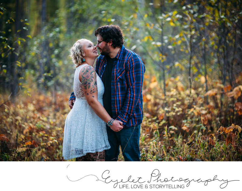 Wedding and Engagement Photos in Fall in The Rockies