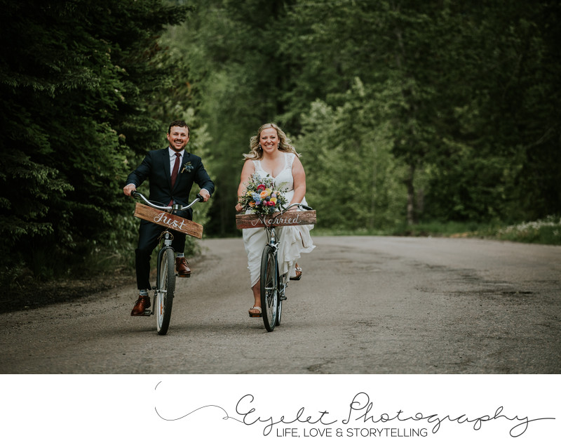 Bike Townie Wedding Fernie BC Photography