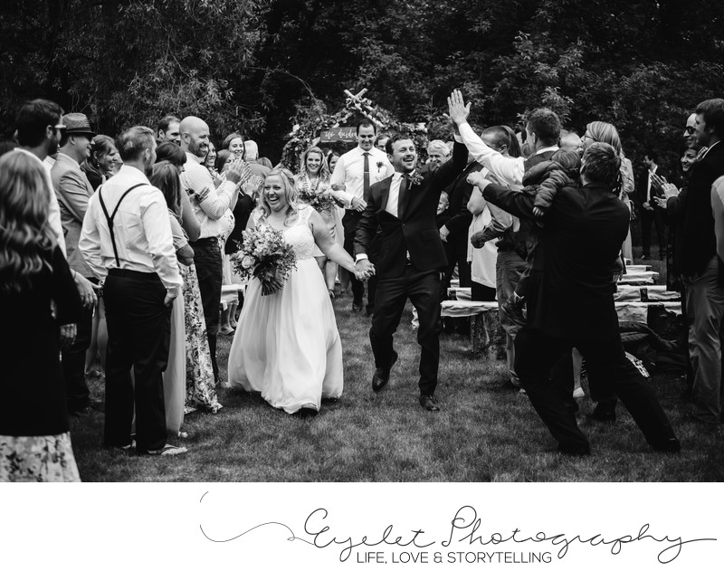 Fernie Weddings Backyard Ceremony Processional Photo