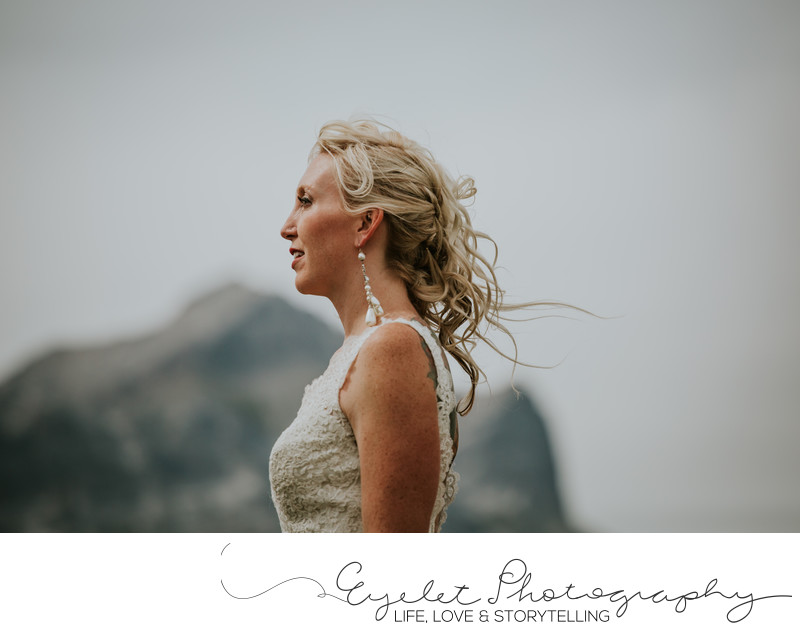 Alison Lake Bridal Portrait Crowsnest Pass Albera