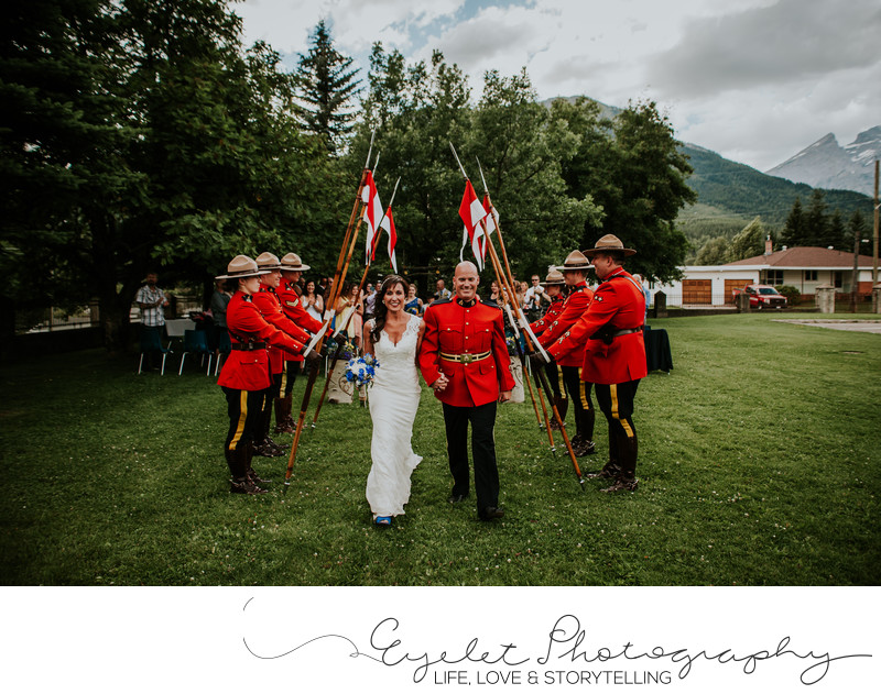 RCMP Wedding Fernie BC Photography City of Fernie