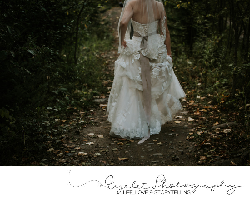Fernie Weddings Lace Dress Photography