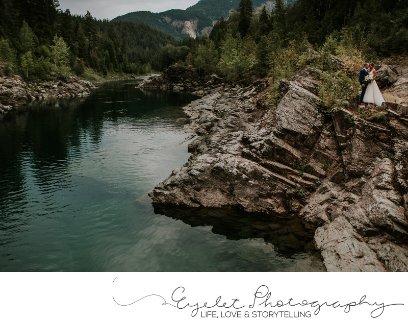 Glacier National Park Weddings on the River Montana
