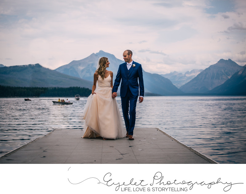 Bride and Groom Weddings Glacier National Park Montana