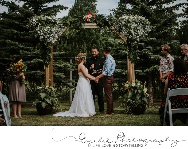 Ceremony Spring Break Flower Farm Wedding Photographer
