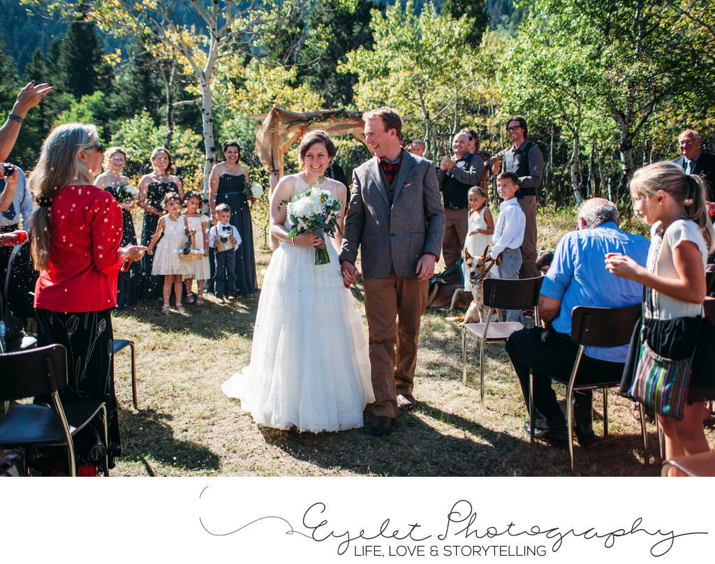 Crowsnest Pass Backyard Wedding Ceremony Photography