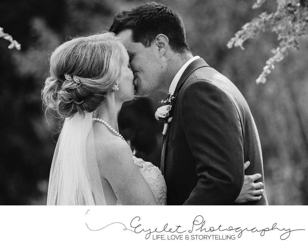 First Kiss Wedding Photographer Spring Break Flower Farm