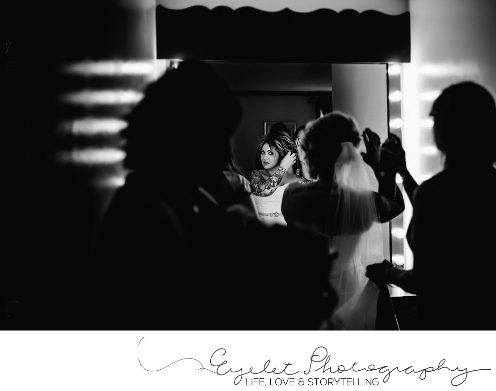Bride Getting Ready Wedding Photography Sparwood, BC
