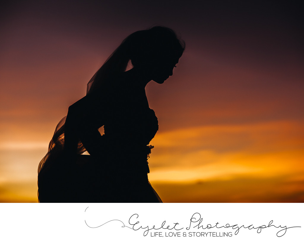 Destination Wedding Photographer Cuncun at Sunset