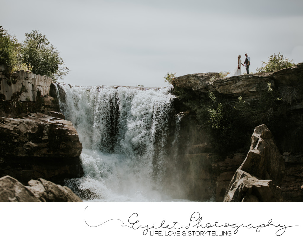 Waterfall Wedding Crowsnest Pass Alberta Photography