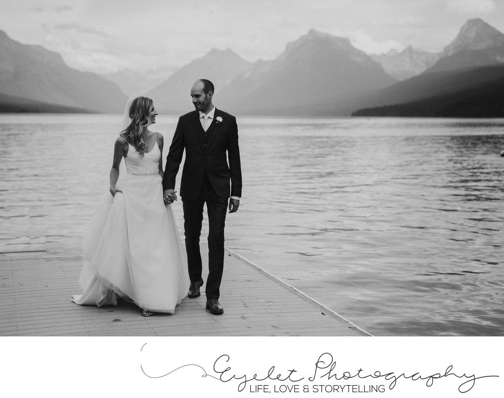 Glacier National Park Wedding on the Lake Montana