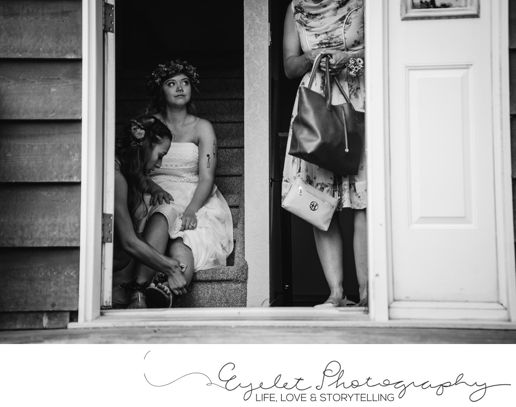 Crowsnest Pass AB Wedding Photography Candid Venue