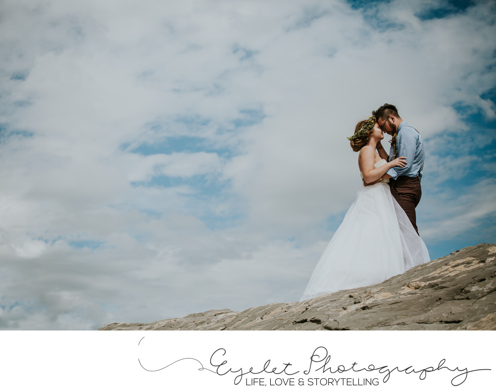 Bride and Groom Crowsnest Pass Weddings Frank Slide