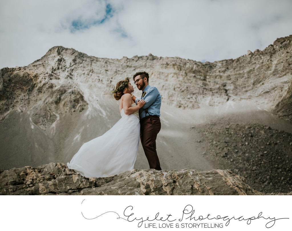 Crowsnest Pass Frank Slide Wedding Photography