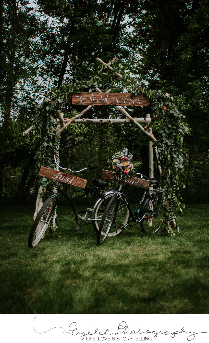 Fernie BC Townie Bikes Wedding Ceremony Photography
