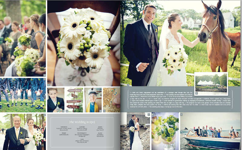 Maine Wedding Magazine Photos