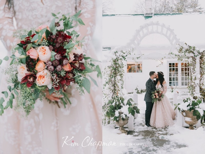 Snowy Wedding in Southern Maine