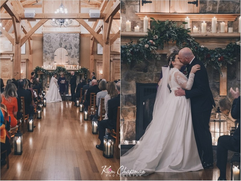 Red Barn Indoor Ceremony Photography