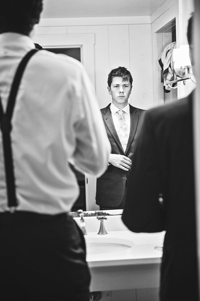 The Groom Prepares - Northport, Maine