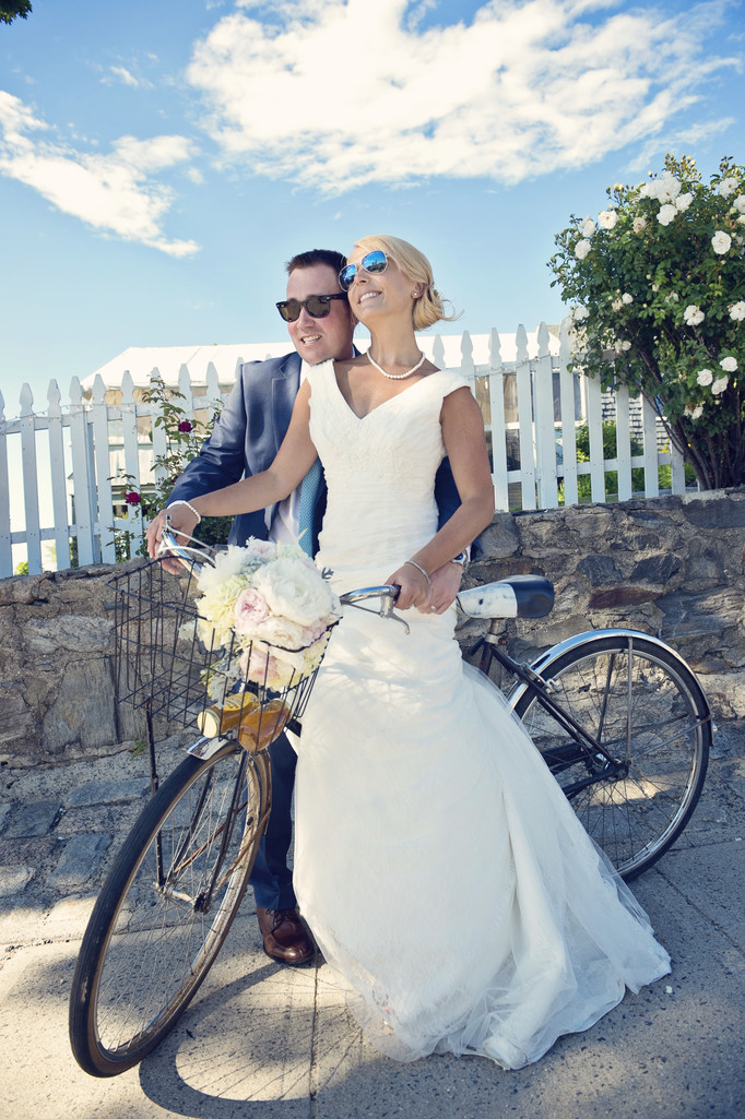Peaks Island Wedding Photographer retro style