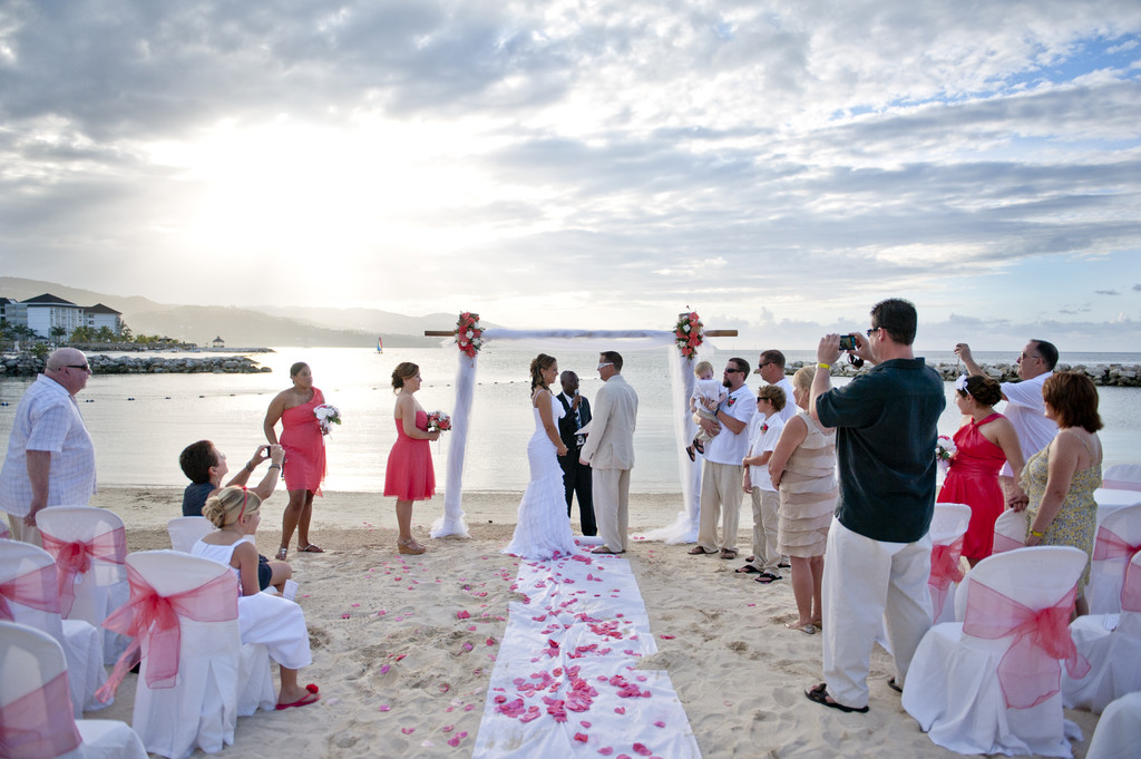 Beach Ceremony in Montego Bay, Jamaica